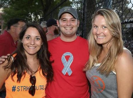 From left: Lisa and Matt Pambianchi of Boston and Jane Stewart of Quincy.